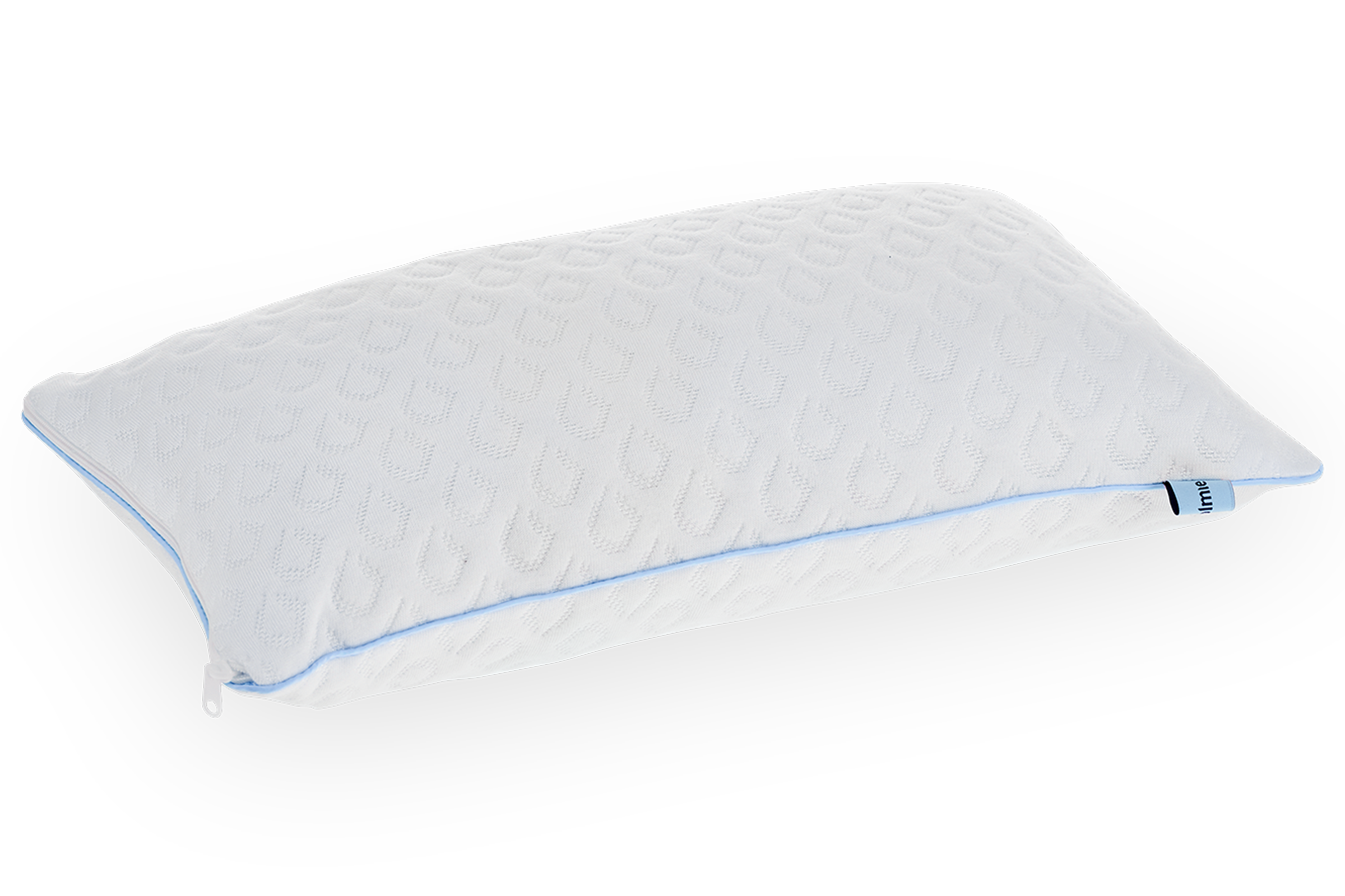 Wellness, comfort and safety: the anti-reflux pillow with blue detail, customizable and sanitizable for children from 0 to 3 years